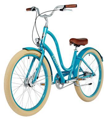 Der Klassiker unter den Bikes: Das azurblaue Townie Ballon von Electra  für die Ladies