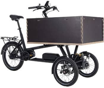 E-Lastenrad: Das E-Cargo von chike in schwarz