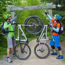 MTB Fahrtechnik Schule Bergfühlung Bikepark Besuch