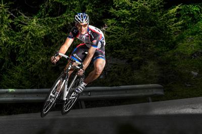 Rennradfahrer mit Cube Ausstattung