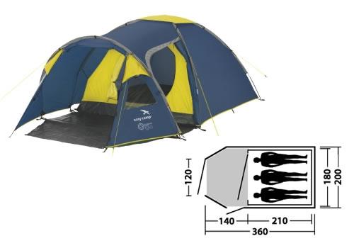 3 Personen Zelt für die Fahrradtour